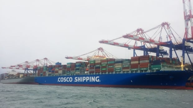 The COSCO Himalayas was completed in 2017.