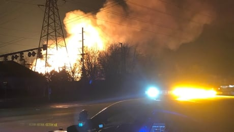 Massive gas line fire in Orion Township, Mich. leads to evacuations
