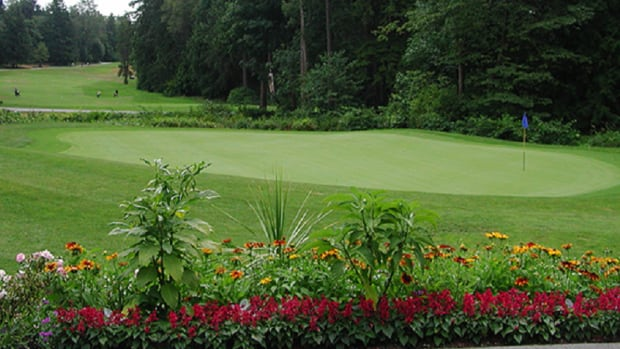 The 18th hole at Vancouver's Fraserview Golf Club