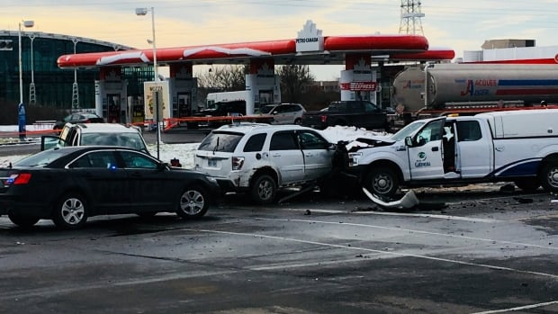 Gatineau police said a collision happened at the intersection of Montée Paiement and boulevard St-René Ouest after a driver allegedly ran a red light.