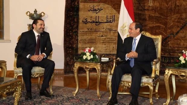 Hariri Twitter feed: Lebanon's Hariri lands in Cyprus, meets its president