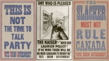 1917 election posters