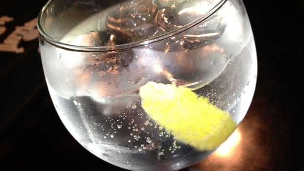 Gin and tonic with lemon