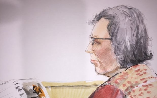 Iris Amsel courtroom sketch