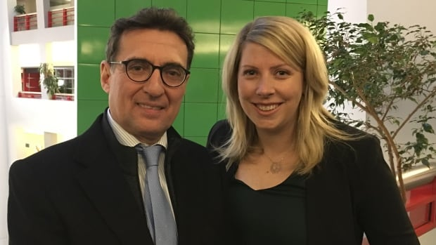 Dr. Xavier Montalban, a neurologist, left, and Erin Truax, a Toronto resident with MS, right, say a plan by St. Michael's Hospital in Toronto to build a new $30 million MS treatment and research centre is good news for patients.