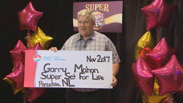 He's the Mahon and he's set for life. Newfoundland and Labrador's latest lottery winner, Garry Mahon, picks up his cheque Wednesday.
