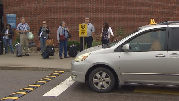 Large planes arriving at the Charlottetown Airport can lead to waits for a taxi.