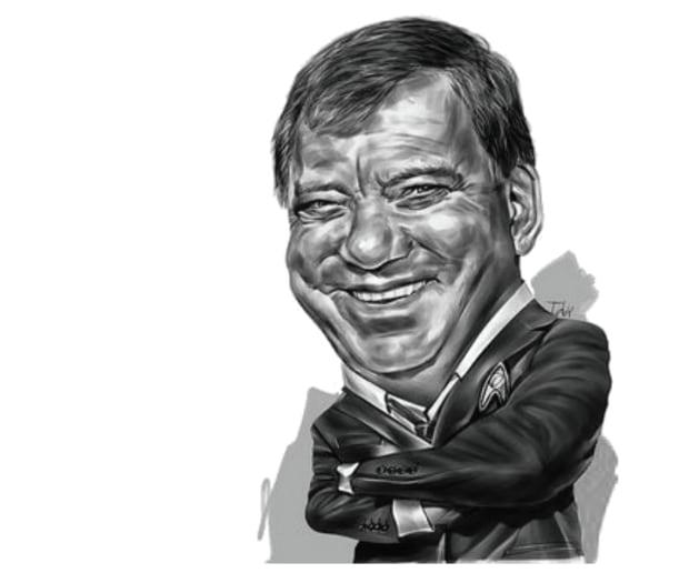 William Shatner caricature