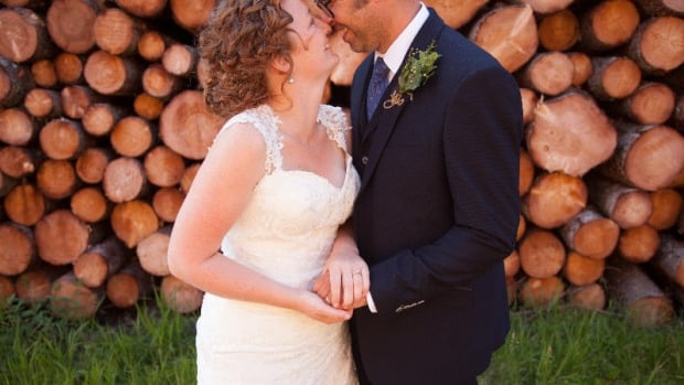 'It kind of hugged in all the right places,' says Meaghan Blanchard of her wedding dress.