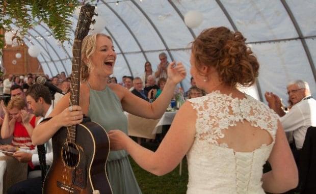 Meaghan Blanchard wedding dress back view