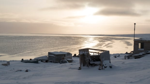 Igloolik bay in November 2016. An Igloolik man and boy are missing after setting out on a snowmobile for Hall Beach, Nunavut late Sunday evening.