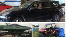 police collage stolen goods
