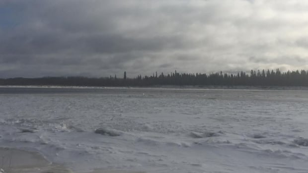 Police say it's not yet safe for people to cross the Moose River between Moosonee and Moose Factory.
