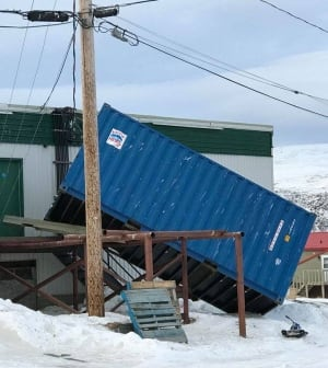 Sea can Pangnirtung wind