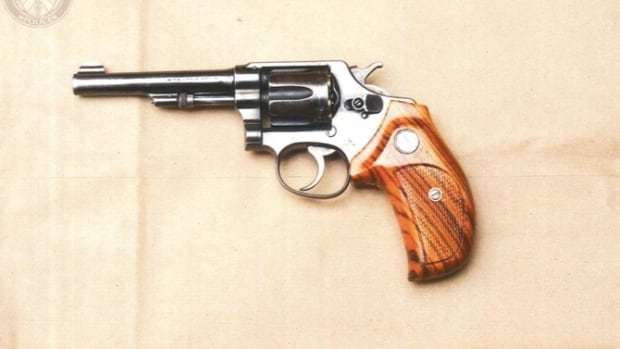 This was one of two photos presented to the jury Wednesday, showing the handgun Dellen Millard bought days before Laura Babcock vanished in early July 2012.