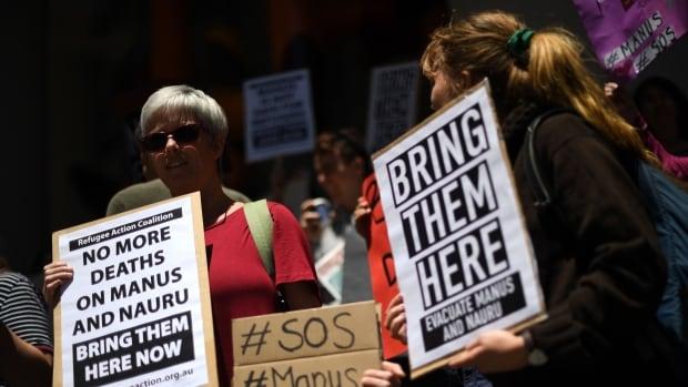 Police enter Australia's closed detention centre