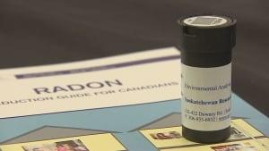 Radon testing kit