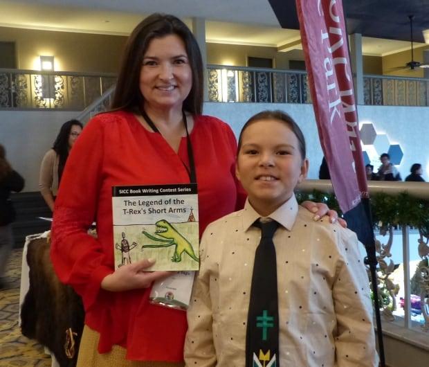 Jaunita McArthur-Big Eagle and Bronte Big Eagle SICC Language 2017