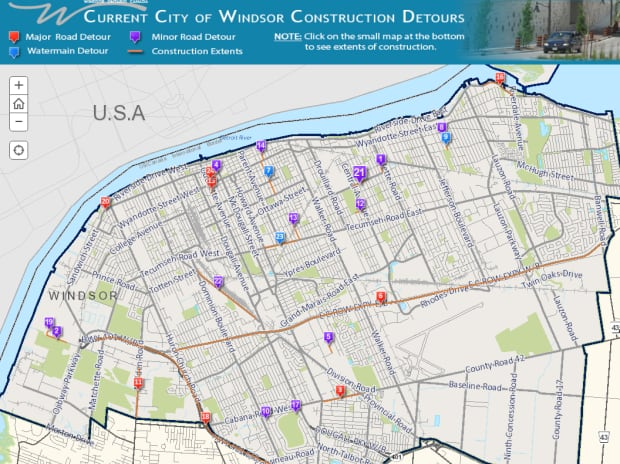 City of Windsor construction projects