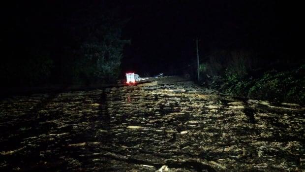 Mudslide shuts down Highway 1 between Chilliwack and Hope