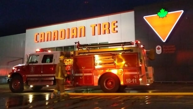 The Chatham-Kent Fire Department were on the scene Thursday morning, of a fire in a Blenheim area Canadian Tire.