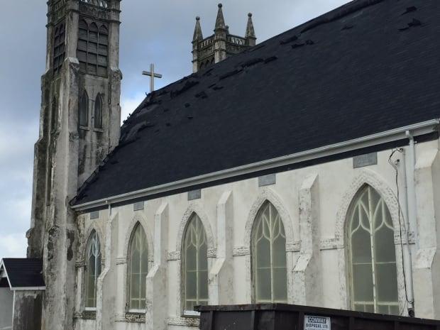 Stone church shingles