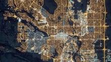 Light pollution Calgary