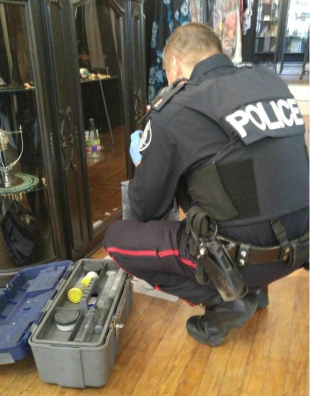 Police at Lisa Drader-Murphy store
