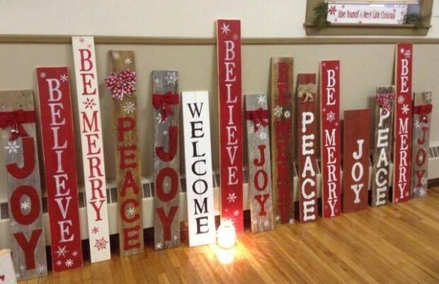 hand made Christmas signs by Karen MacKinnon