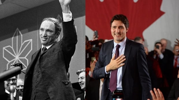 Pierre and Justin Trudeau — a father and son who served as the country's leaders but with different approaches to thorny issues.