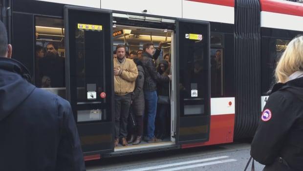 Crowded streetcar