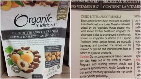 Snacking on bitter apricot kernels? You're at risk of cyanide poisoning, Health Canada warns thumbnail