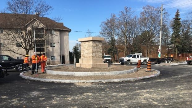 The roundabout on Sandwich Street is set to open Saturday