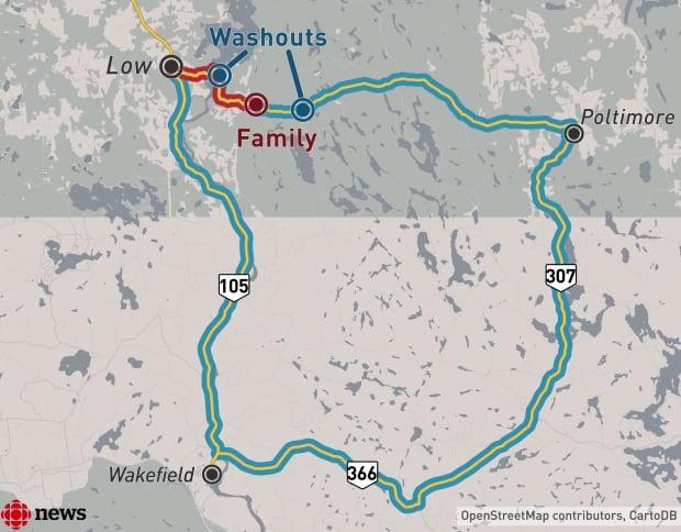 Paugan Road map