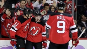 Brian Boyle scores winner for Devils on 'Hockey Fights Cancer Night'