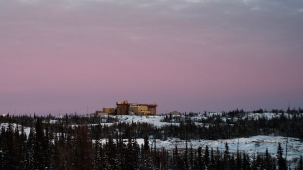 Buildings on the former Giant Mine property on Nov. 24, 2017. A researcher at Queen's University says he and his team have developed a process that could render inert the approximately 237,000 tonnes of arsenic trioxide contained in underground chambers at the mine.