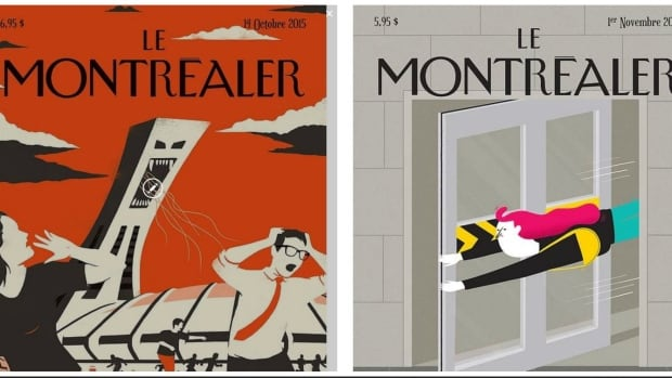 A total 52 illustrations make up the Le Montréaler exhibition at the Maison de la culture du Plateau-Mont-Royal.