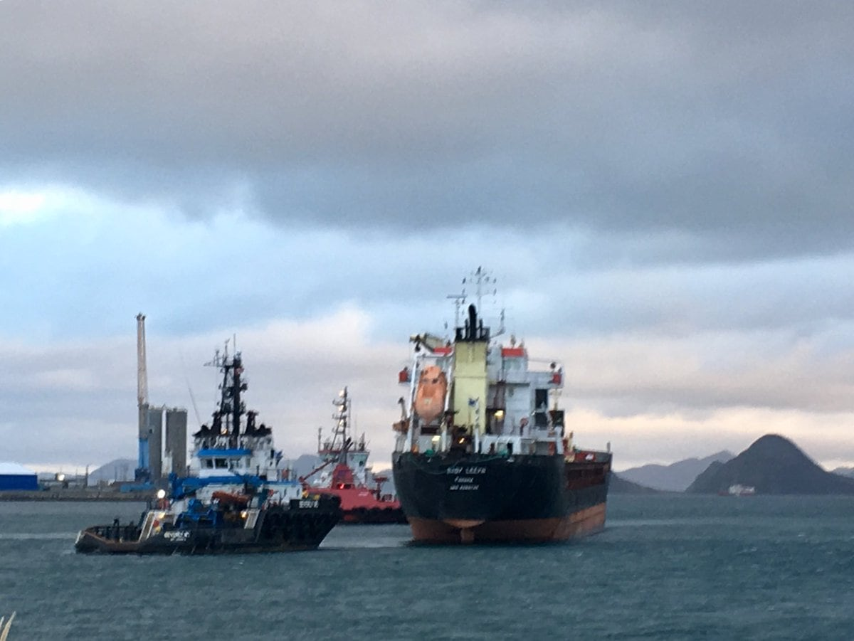 Disabled cargo ship docked in Argentia after going adrift