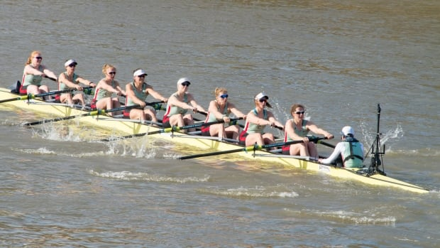 The women's rowing team at the University of Cambridge Boat Races Alumni Event in April 2017. Researchers found that the bones of prehistoric women were stronger than those of these rowers.