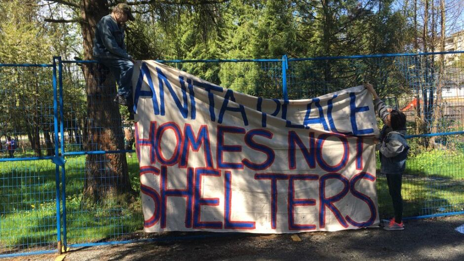 Anita Place tent city sprang up in May after Maple Ridge, B.C.'s only low-barrier shelter closed.