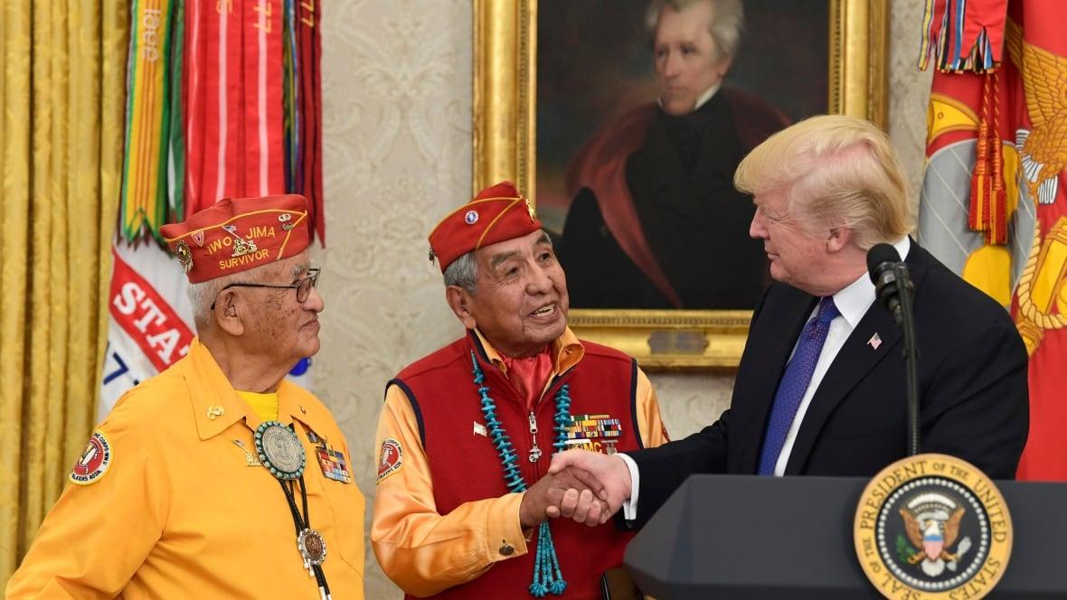 Trump makes Pocahontas joke at event honouring Navajo ...