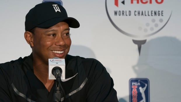 Tiger Woods is playing in his first tournament since fusion surgery on his lower back in April.