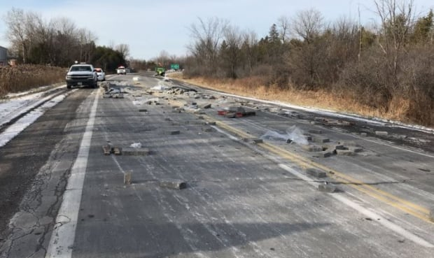 patio stones spill greely tractor trailer nov. 28