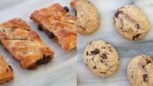 Eccles cakes and chocolate espresso shortbreads