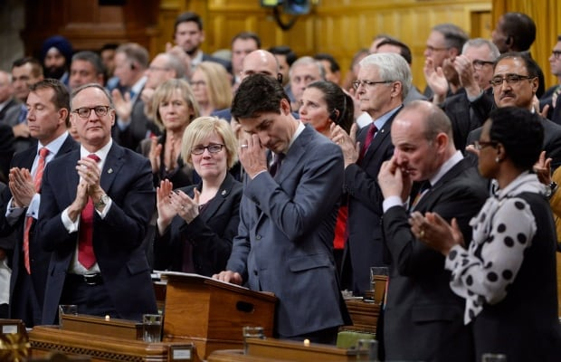 Trudeau tears up during LGBT apology