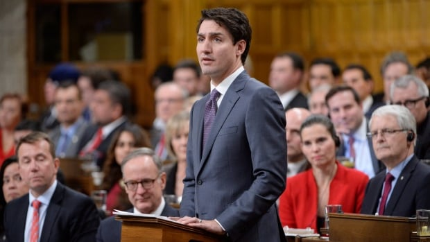 Prime Minister Justin Trudeau makes a formal apology to individuals harmed by federal legislation, policies, and practices that led to the oppression of and discrimination against LGBTQ2 people in Canada.