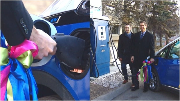 Electric vehicle fast-charging station, Calgary