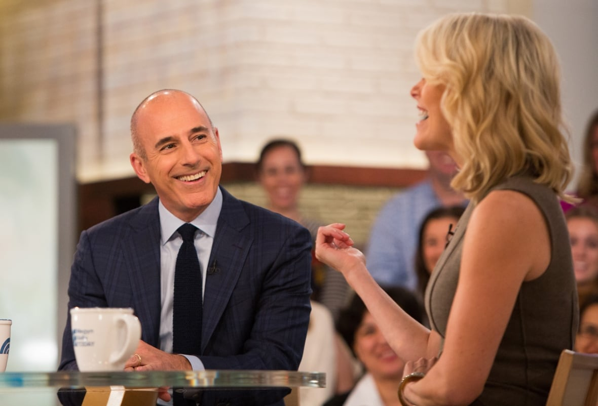 Lauer, seen here in October with journalist Megyn Kelly, has not responded publicly to NBC's statement about his firing. (Nathan Congleton/NBC/Getty Images)It's tempting to see this as a watershed moment. But Lauer isn't even the first morning show host to fall.