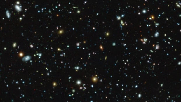This colour image shows the Hubble Ultra Deep Field region, a tiny but much-studied region in the Fornax constellation, as observed with the MUSE instrument on ESO's Very Large Telescope. Seventy-two new galaxies were found that had eluded deep imaging with the NASA/ESA Hubble Space Telescope.