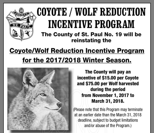 Coyote/Wolf Reduction Ad